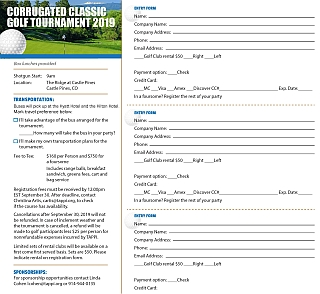 Download 2019 Golf Classic Registration Form